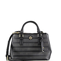 Tory Burch - Robinson Micro Perforated Double-Zip Tote - Saks Fifth Avenue Mobile