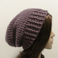 Everyday Slouch Hat  Dusty Purple  made to order by ReeniesCrochet