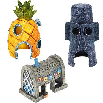 Pineapple Aquarium Decoration Aquatic Animals House Ornaments for Fish Tank Aquarium Pet Supplies
