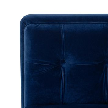 "The ""Jack"" Hand Tufted Modern  Blue Velvet Sofa"