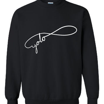 "Brand New ""YOLO Infinity"" You Only Live Once  Printed Unisex Crew Neck,Sweatshirt, Jumper"