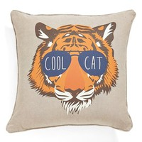 Levtex 'Tiger with Glasses' Accent Pillow - Ivory