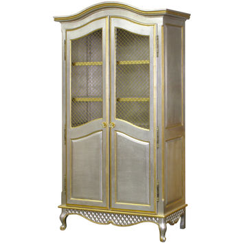 Bonne Nuit Grand Armoire Silver with Gold Gilding