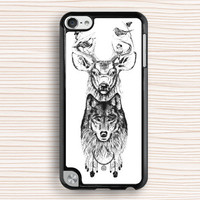 idea ipod case,art design ipod 4 case,deer and wolf ipod 5 case,personalized ipod touch 4 case,fashion ipod touch 5 case,new design case,dream catcher case,men's gift case,boy's gift case