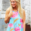 Baby Doll Floral Halter {Mint}