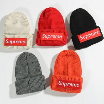 Autumn Winter Unisex Children knitted Hip-hop Hats Beanies Cap