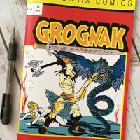 Grognak The Barbarian Fallout Cos-Play Comic book style Sketch Book / Journal