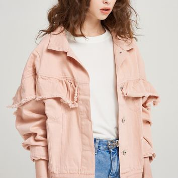 Ginny Cotton Frill Jacket Discover the latest fashion trends online at storets.com