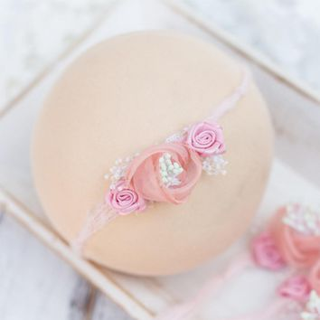 Newborn Baby Headband photography props Pearl Flower Headband Fashion Baby Girl Head Hair Band Accessories Children Photo Props