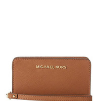 Michael Michael Kors Jet Set Travel Slim Tech Wristlet Flap Wallet