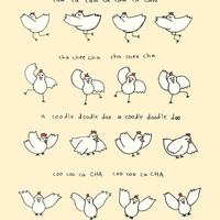 Arrested Development Chicken Dance Print - Hand-Illustrated
