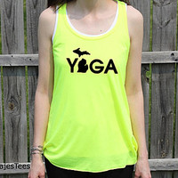 Michigan Yoga Flowy Racerback Tank Top