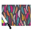 "Skye Zambrana ""Flight Pattern"" Pink Gray Cutting Board"