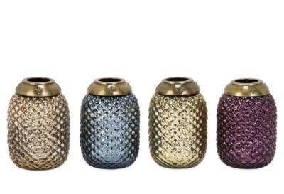 One Kings Lane - Get Outside - S/4 Large Glass Tea Light Lanterns