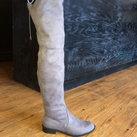 SALE Over the Knee Gray Boots