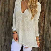 womens winter autumn knitted hoodie shirts girl warm sweater top gift 176
