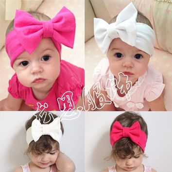Baby Kids Girl Child Toddler Infant Flower Floral Bow Hairband Turban Knot Headband Headwear Hair Band Accessories