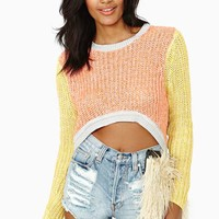 Burn Bright Crop Knit Top