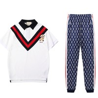 Gucci  Men Fashion Casual Short Sleeve Pants Trousers Set Two-Piece