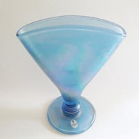 Fenton Celeste Blue Stretch Glass Vase Metropolitan Museum of Art