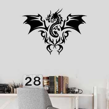 Vinyl Wall Decal Dragon Fire Flame Fantastic Beast Kids Room Art Stickers Mural (ig5448)