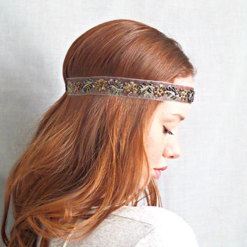 Beaded Headband Bohemian Hair Accessories Hippie Headband