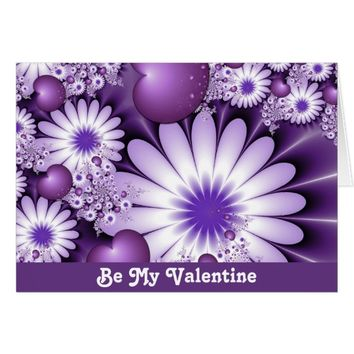 Be My Valentine Love Hearts Flowers Card