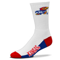 NCAA Kansas Jayhawks Crew Socks, Large