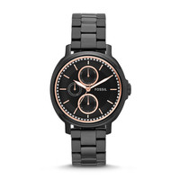 Chelsey Multifunction Black Stainless Steel Watch