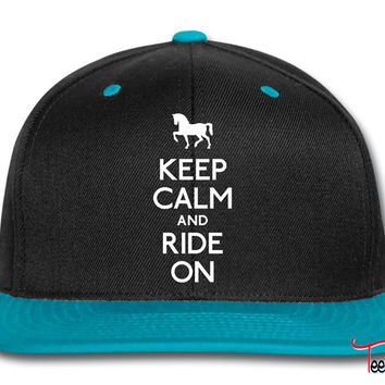 gkeep calm and ride on Snapback