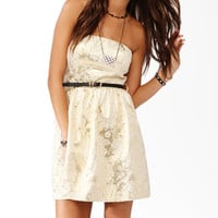 Jacquard Metallic Party Dress