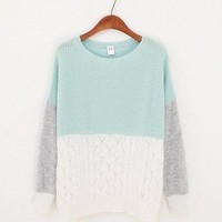 Three Colors Blocks Sweater