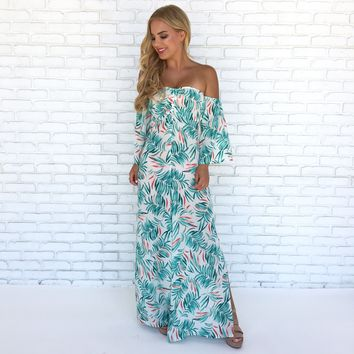 Palm Paradise Wide Leg Jumpsuit