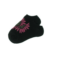 Hue Womens Floral Print Knit Low-Cut Socks
