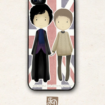 Iphone 5 hard or rubber case cute SHERLOCK Holmes  by FeerieDoll