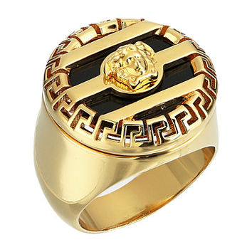 Versace Medusa & Greco Ring