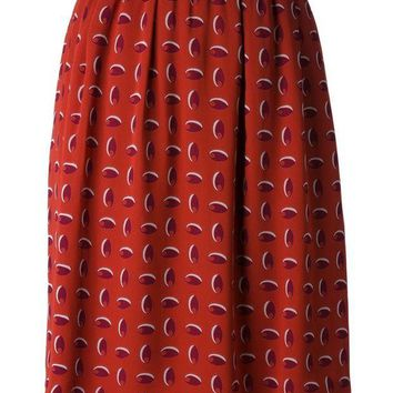 DCCKIN3 Christian Lacroix Vintage printed straight cut skirt