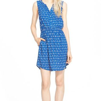Women's Ace Delivery Feather Print Sleeveless Dress,