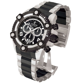 Invicta 0339 Men's Arsenal Reserve Black Ion Plated Stainless Steel Chronograph Swiss Watch