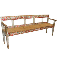 Late 19th Century Swedish Folk Art Bench