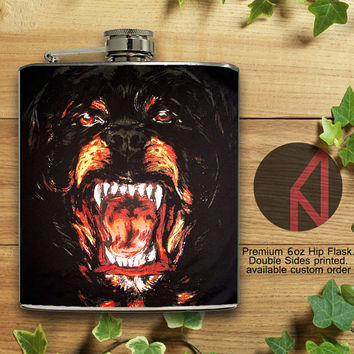 Givenchy Dog 6oz and 8oz Hip Flask