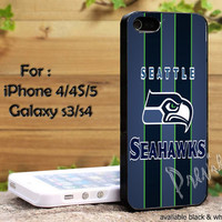 Seattle Seahawks for iPhone 4, iPhone 4s, iPhone 5, Samsung Galaxy S 3, Samsung Galaxy S 4 Case