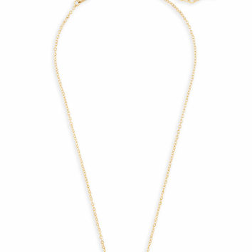 Elisa Gold Pendant Necklace in Violet Drusy | Kendra Scott