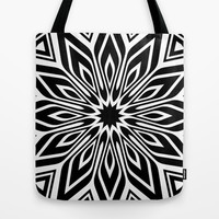 Black and White | Leyana series 3 Tote Bag by Webgrrl
