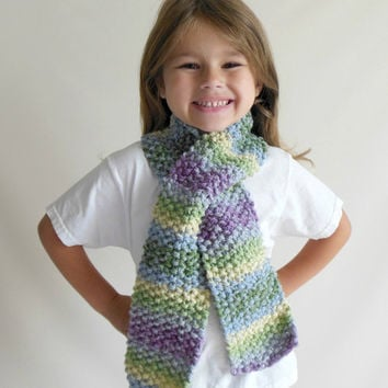 Knit Scarf Toddler Child Size In Purple From Zibbet Com For