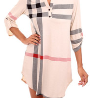 All the Plaid Tunic - Ivory - Small/2xl/3xl - Final Sale