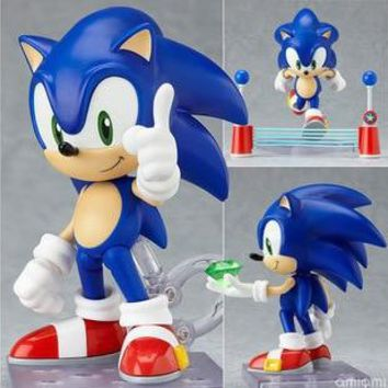 "J.G Chen Free Shipping 4"" Sonic the Hedgehog Vivid Nendoroid Series Boxed PVC Action Figure Collection Scale Model Toys #214"