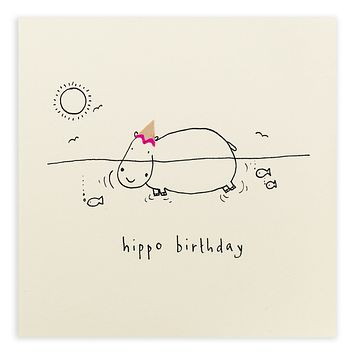 Birthday Hippo Pencil Shavings Card