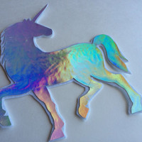 HUGE Holographic Unicorn Sew-On Patch / Applique