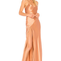 Michelle Mason x REVOLVE Bias Gown in Terracotta | REVOLVE